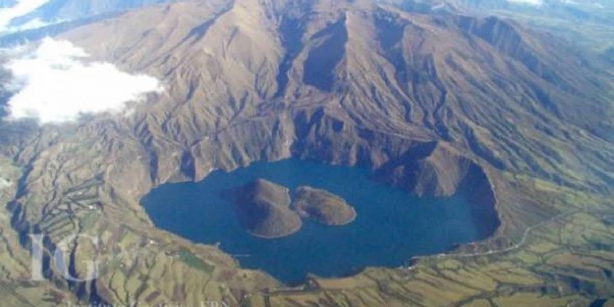 Advierten de aumento en actividad sísmica del volcán Cuicocha
