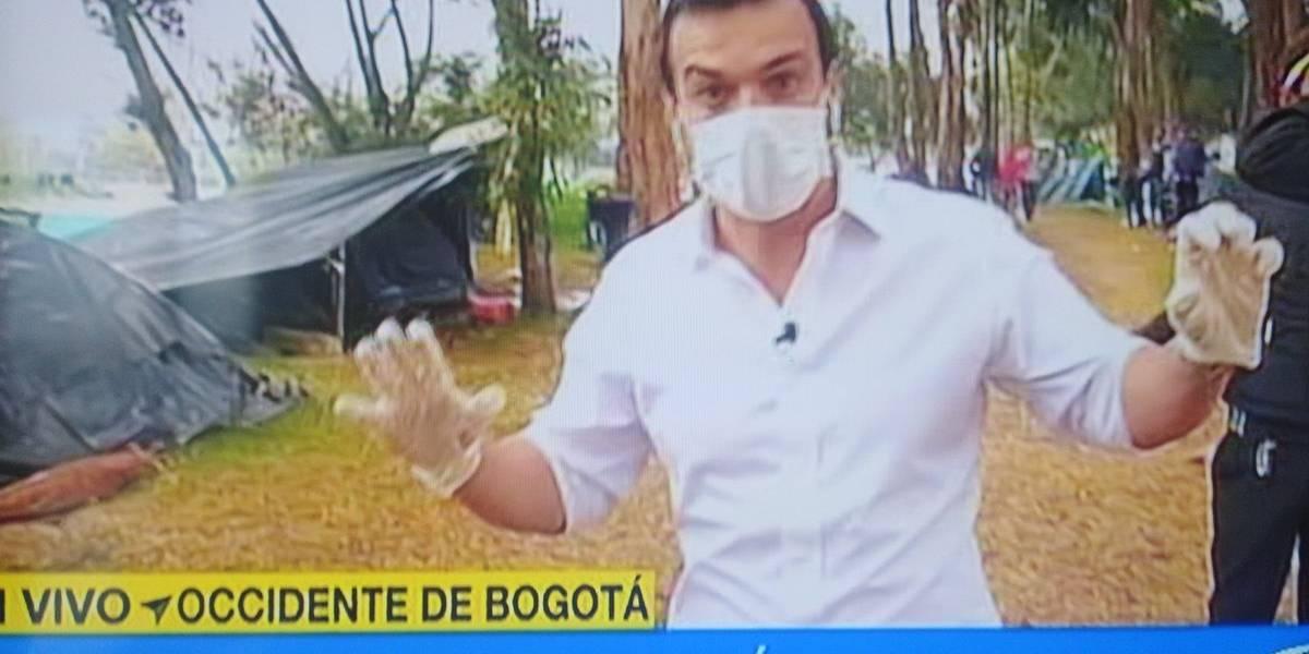 Juan Diego Alvira explica por qué usó guantes y tapabocas en nota sobre venezolanos