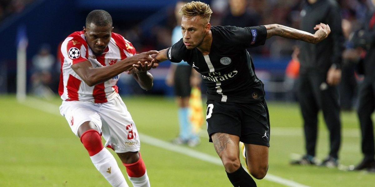 PSG y Neymar ni se despeinaron para aplastar al Estrella Roja en la Champions