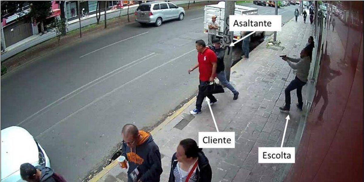 Difunden imágenes de intento de asalto en Polanco