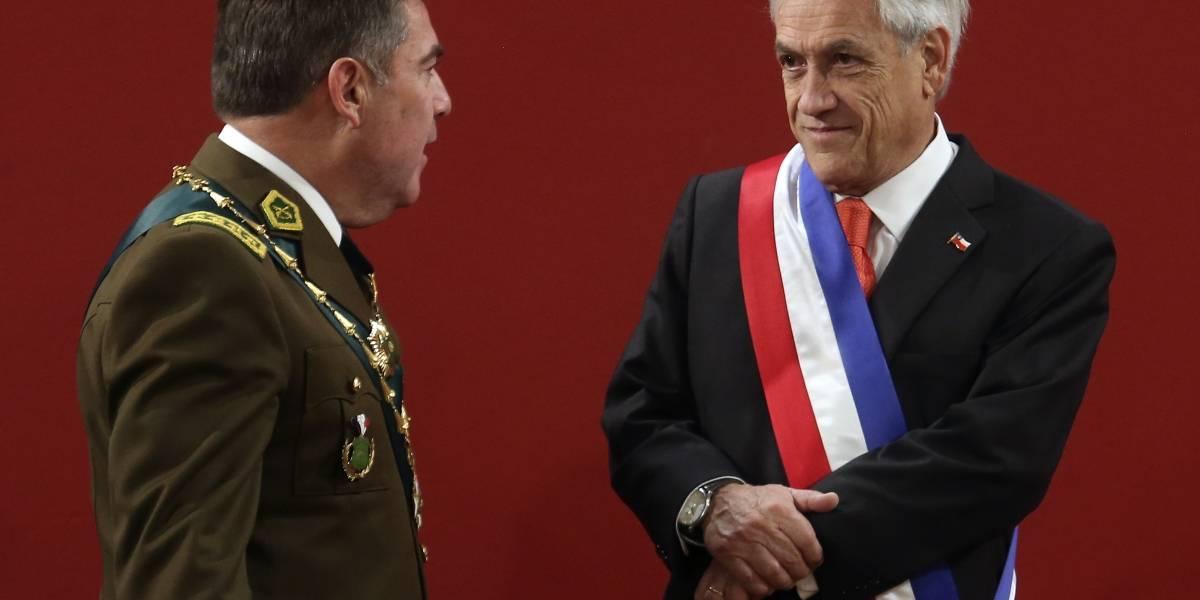 Carabineros de Chile presentó alto mando para 2019 tras aprobación del presidente Piñera