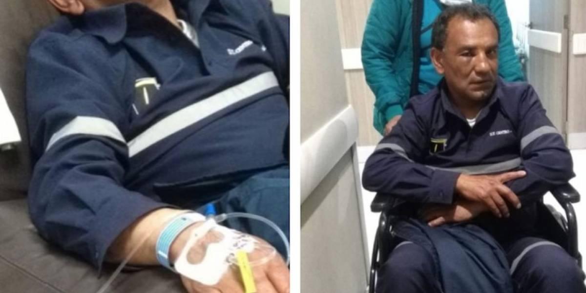Fotos: trabajador de TransMilenio fue brutalmente golpeado por vendedor extranjero