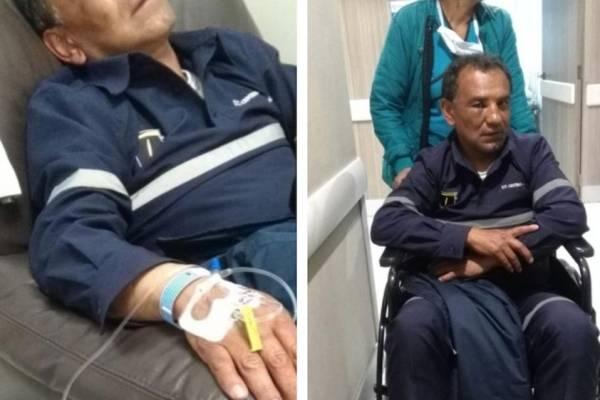 trabajador de TransMilenio fue brutalmente golpeado por vendedor extranjero