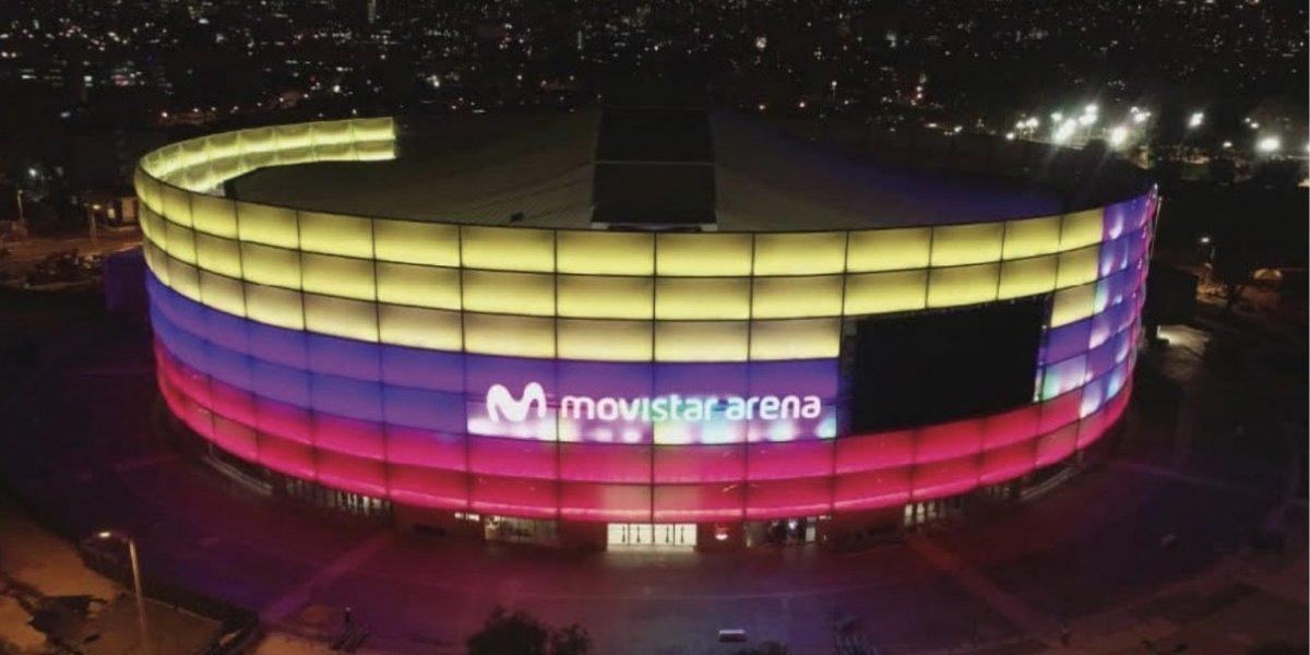 La división en redes sociales por la fachada del Movistar Arena