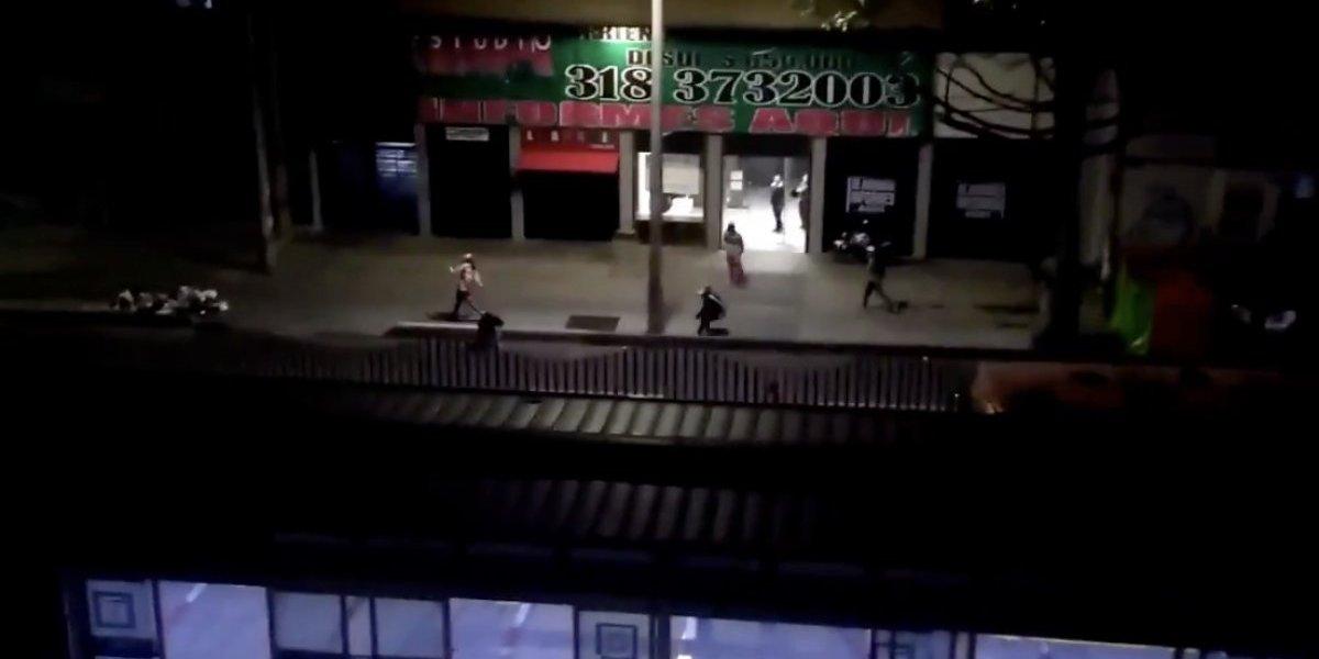 Video: así fue el enfrentamiento entre barras bravas de Santa Fe y Millonarios después del clásico