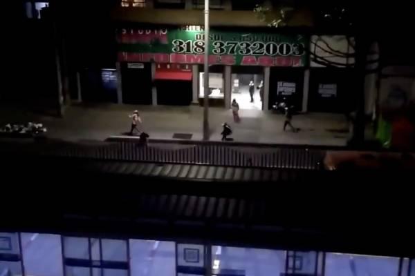enfrentamiento entre barras bravas de Santa Fe y Millonarios