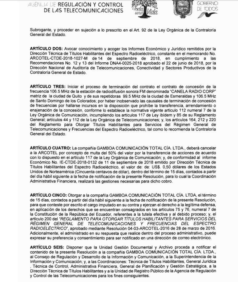 documento Arcotel Captura de pantalla
