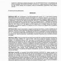 Resolución Arcotel