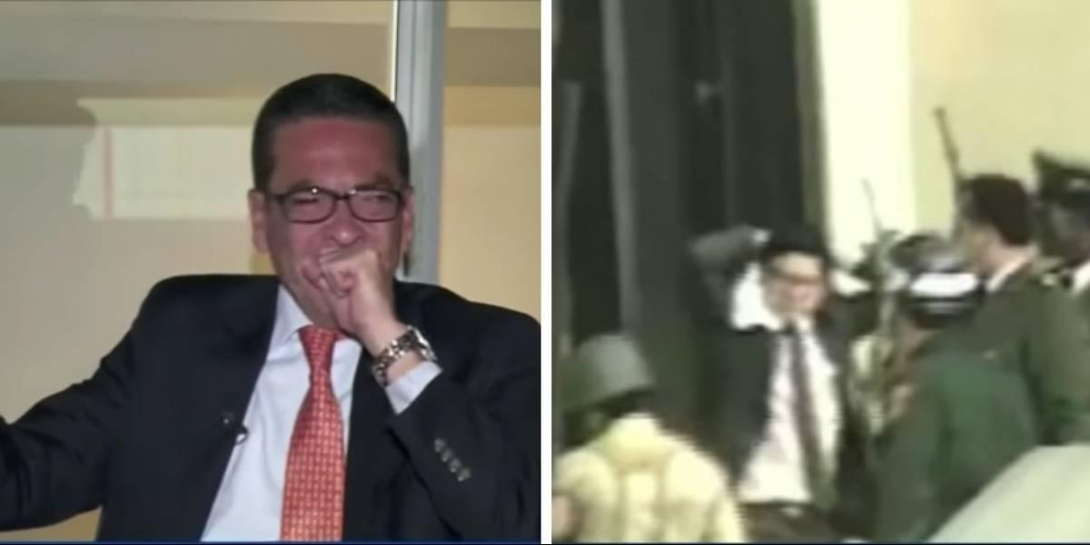 #VIDEO: la reacción de un hombre que descubrió que su papá sí salió vivo del Palacio de Justicia