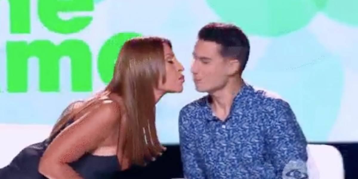 ¡Amparo Grisales y Pipe Bueno se besaron en vivo y en directo!