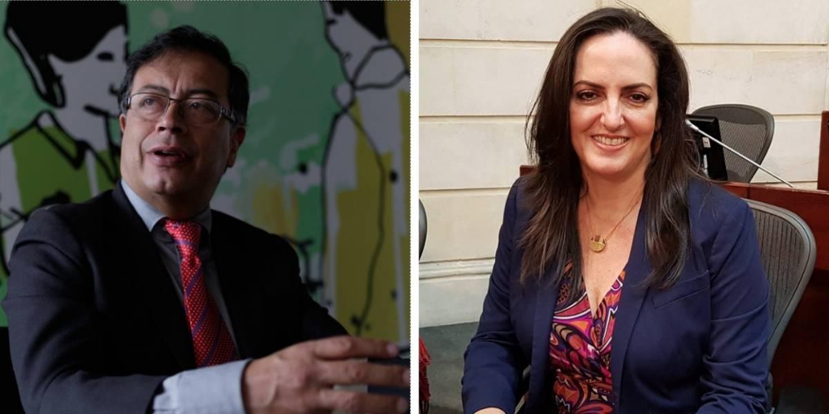 La 'peinada' de Petro a María Fernanda Cabal por tremendo error ortográfico