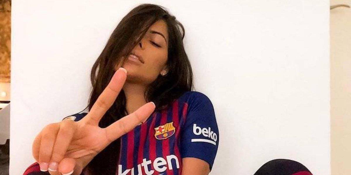 Suzy Cortez homenajea a Messi con infartante foto