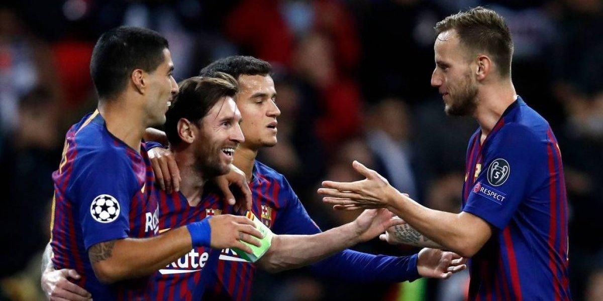Barcelona goleó en un vibrante partido a Tottenham con una tímida presencia de Arturo Vidal