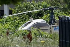 Helicóptero del escape abandonado.