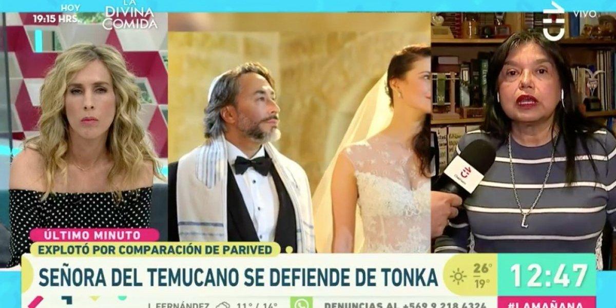 """Esposa de Tito Fernández se defiende de la furia de Tonka Tomicic: """"Yo pensaba que Tonka tenía otra forma de ser. Ahora ya la conozco"""""""