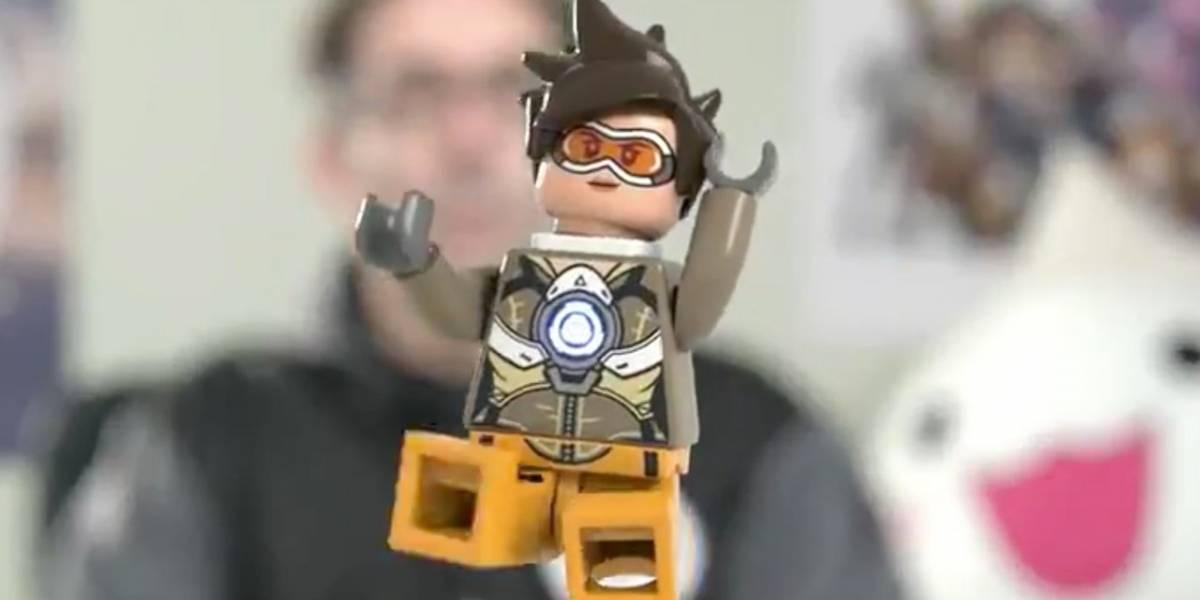 Así luce la figura LEGO de Tracer, la heroína de Overwatch