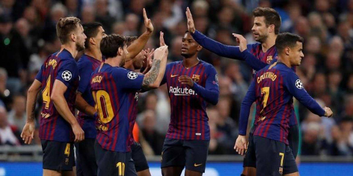 El Barcelona sufre ante la resistencia del Tottenham pero suma su segundo triunfo