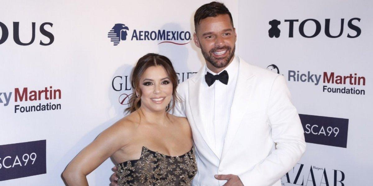 Eva Longoria y Ricky Martin brillan en el 'Global Gift Gala' en México