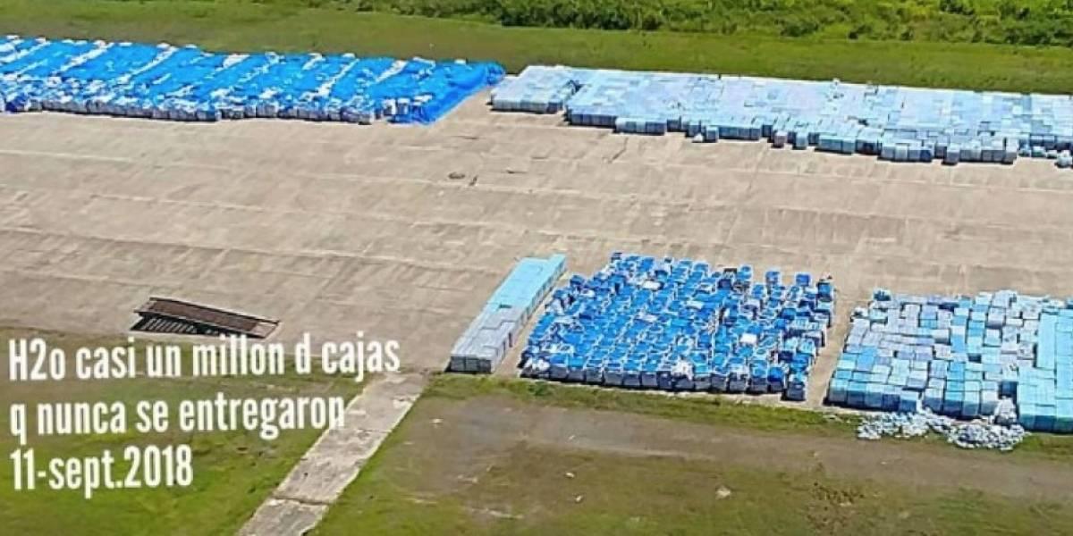 FEMA pagó millones por guardar las botellas de agua en vagones