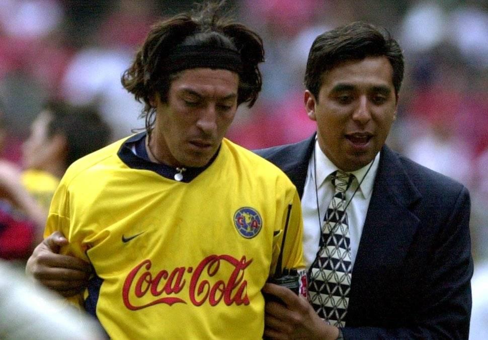 Iván Zamorano llegó a las semifinales de la Libertadores 2001 con el América de México. Los eliminó el Sao Caetano de Brasil / Foto: AP