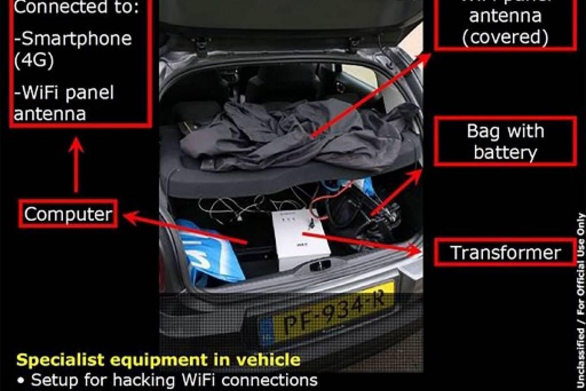 Equipo con el que supuestamente espiaban a la OPAQ en Holanda AFP