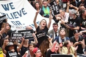 Protestan contra Brett Kavanaugh en Washington