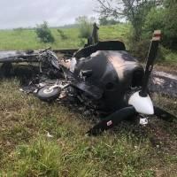 Avioneta quemada en Petén