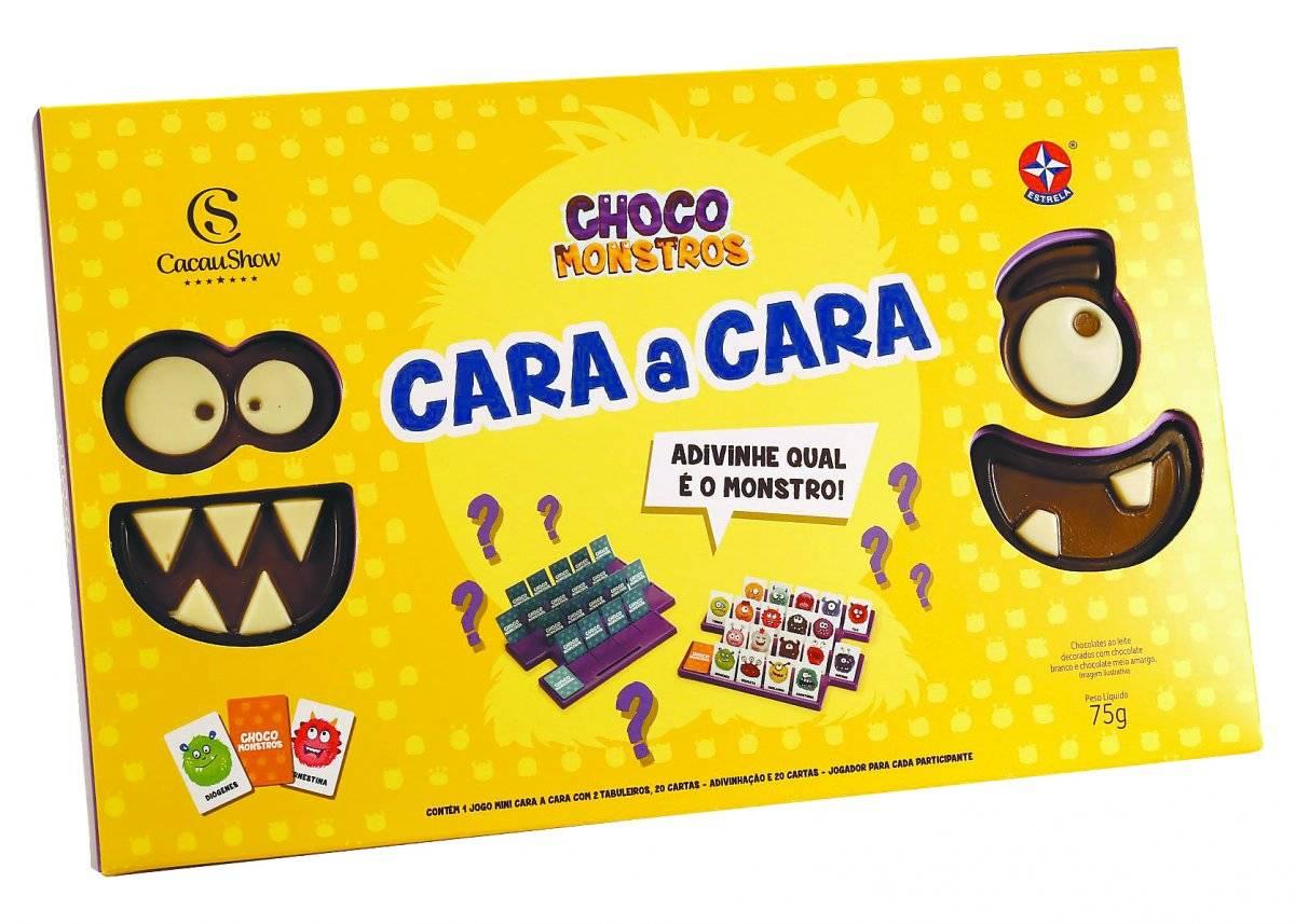 Chocomonstros Cara-a-Cara (Cacau Show) Preço sugerido: R$ 40 lojavirtual.cacaushow.com.br