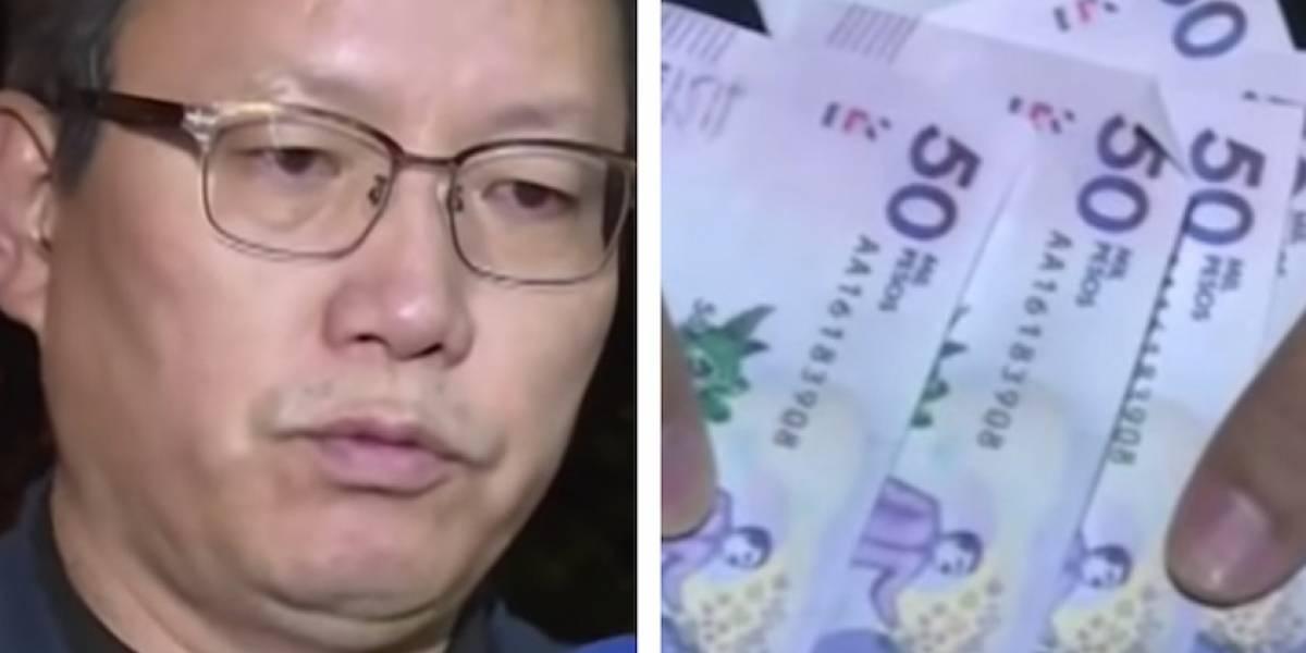 Cajero entregó billetes falsos a empresario coreano en Bogotá