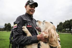 homenaje a nuestros héroes de cuatro patas que trabajan por la seguridad en Bogotá