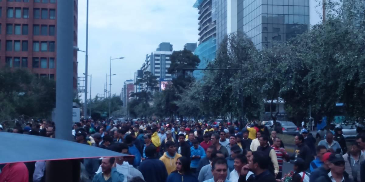 Movilización de taxistas en Quito
