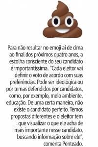 Emojis Eleitorais: Emoji de cocô