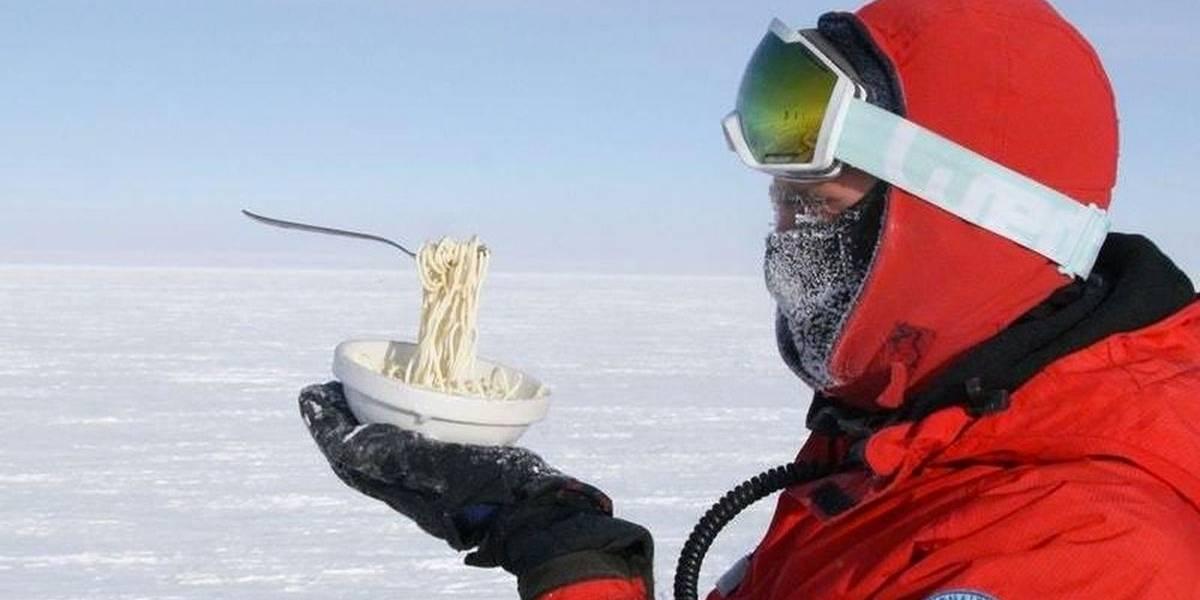 Foto de espaguete congelado na Antártida viraliza nas redes