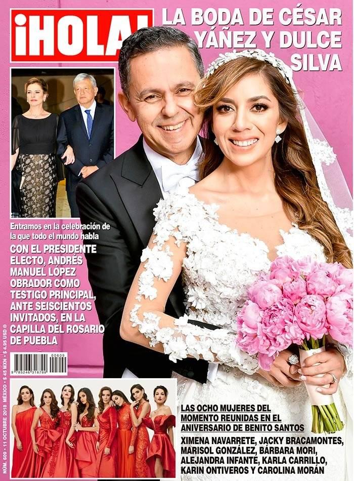 Boda de César Yáñez protagoniza la portada de la revista ¡Hola!