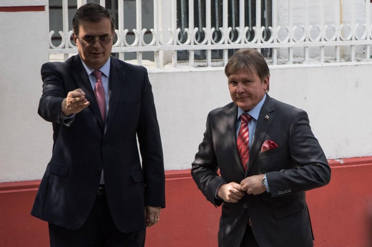 Ebrard Casaubón ya se reunió con el Embajador de Rusia en México, Viktor Koronelli. Foto: Cuartoscuro.