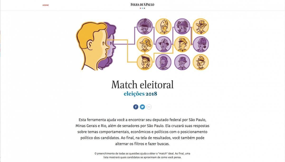 Match Eleitoral (matcheleitoral.folha.uol.com.br)
