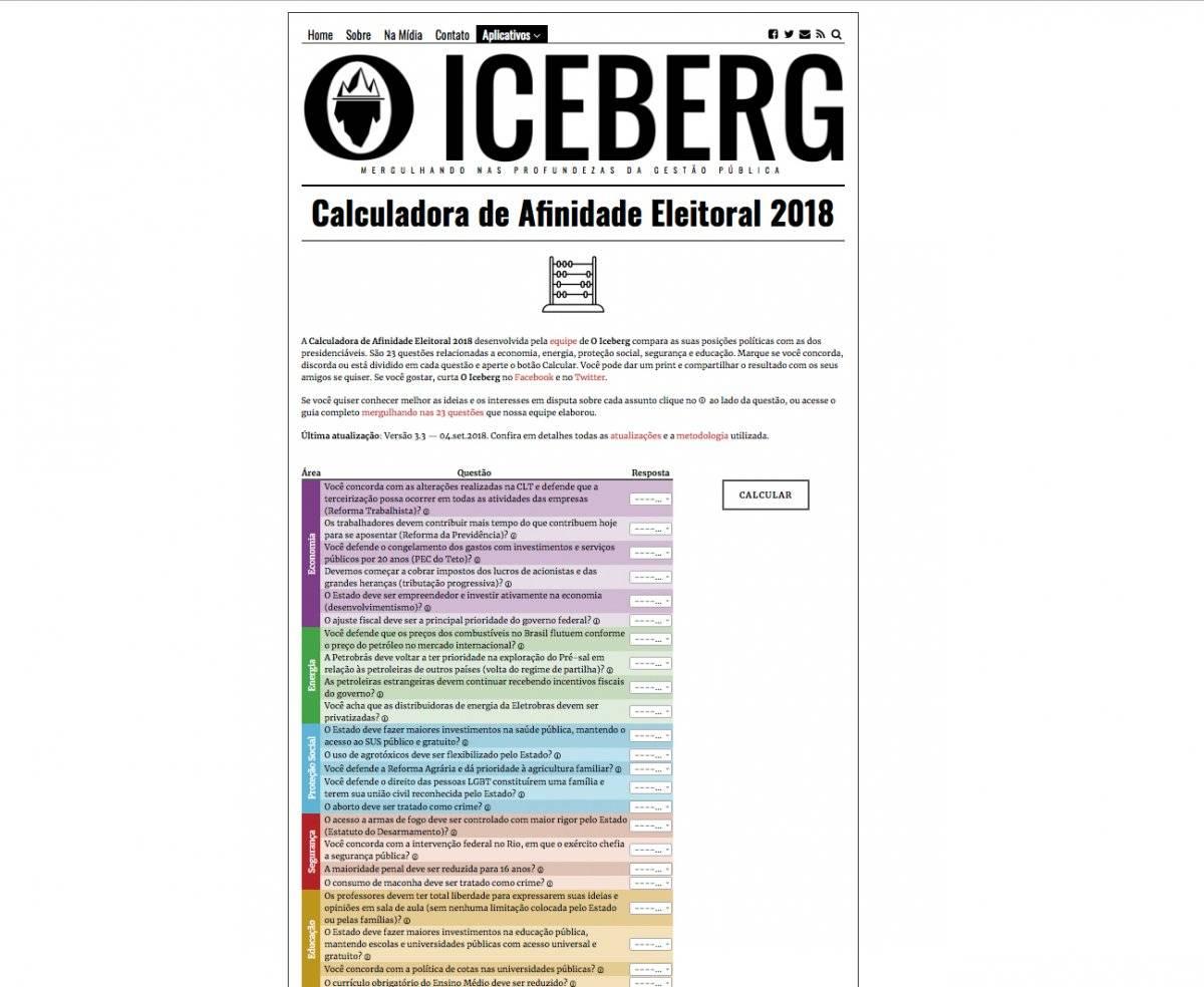 O Iceberg (oiceberg.com.br/calculadora)