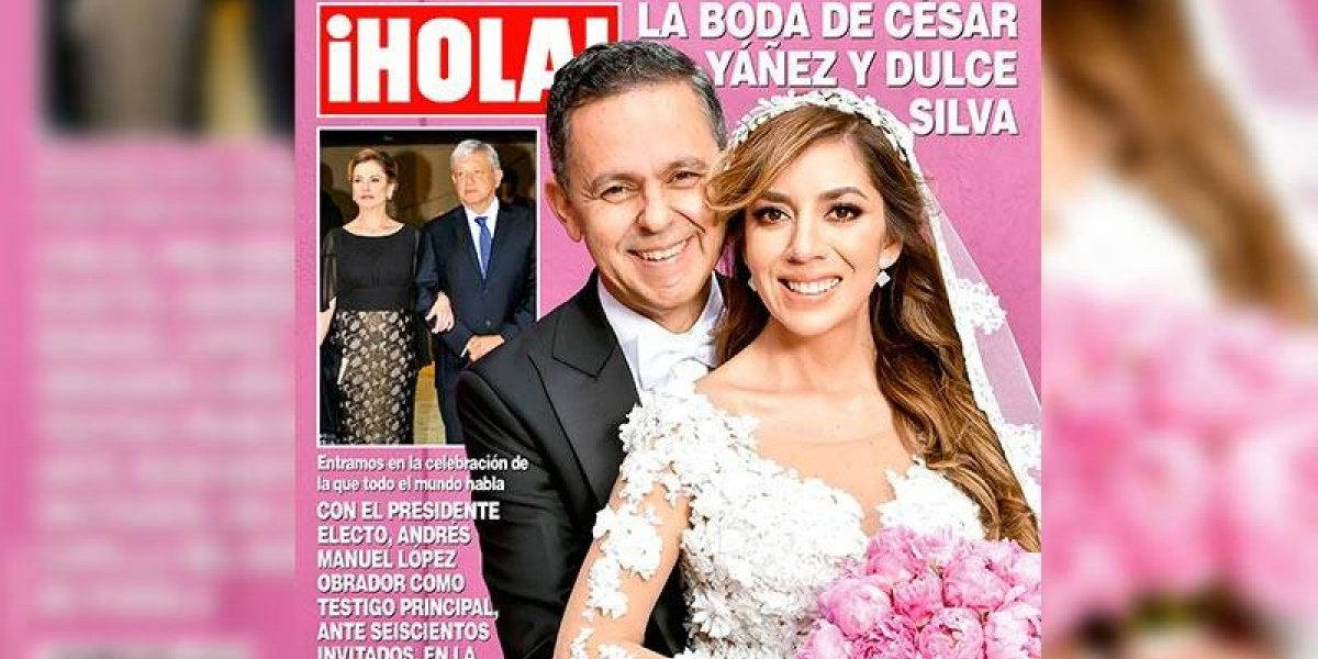 Boda de César Yáñez protagoniza portada de la revista ¡Hola!