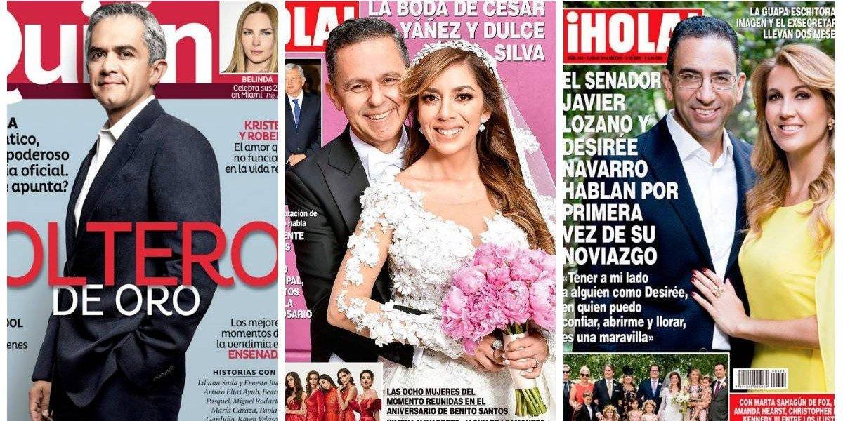 Políticos que han aparecido en las portadas de revistas de sociales