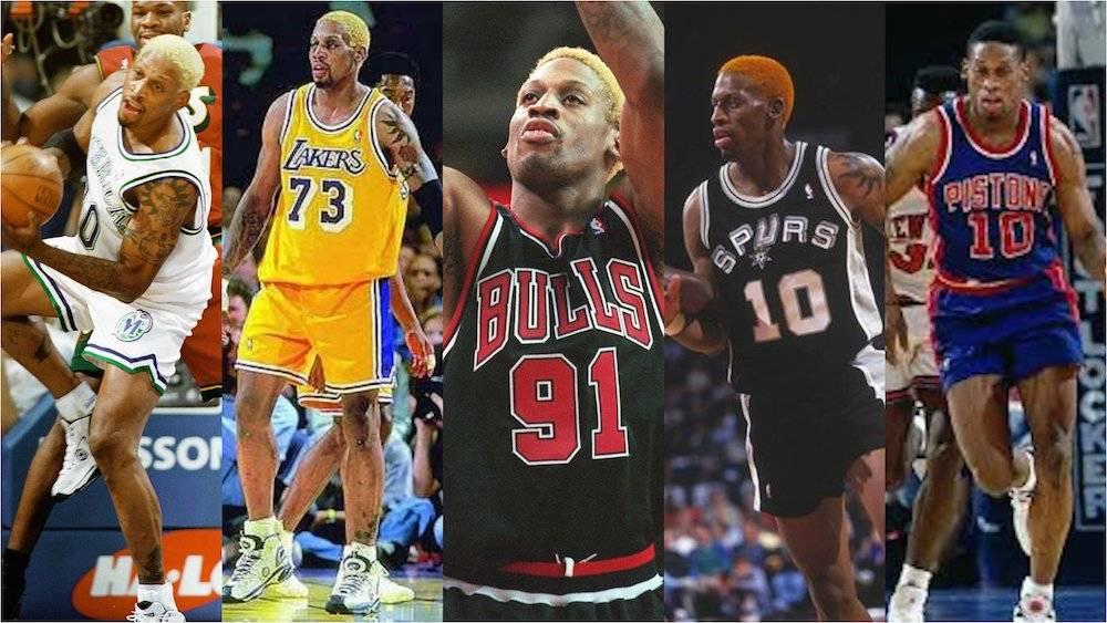 Dennis Rodman jugó en varios equipos: Pistons, Spurs, Bulls, Lakers y Mavericks. / Especial