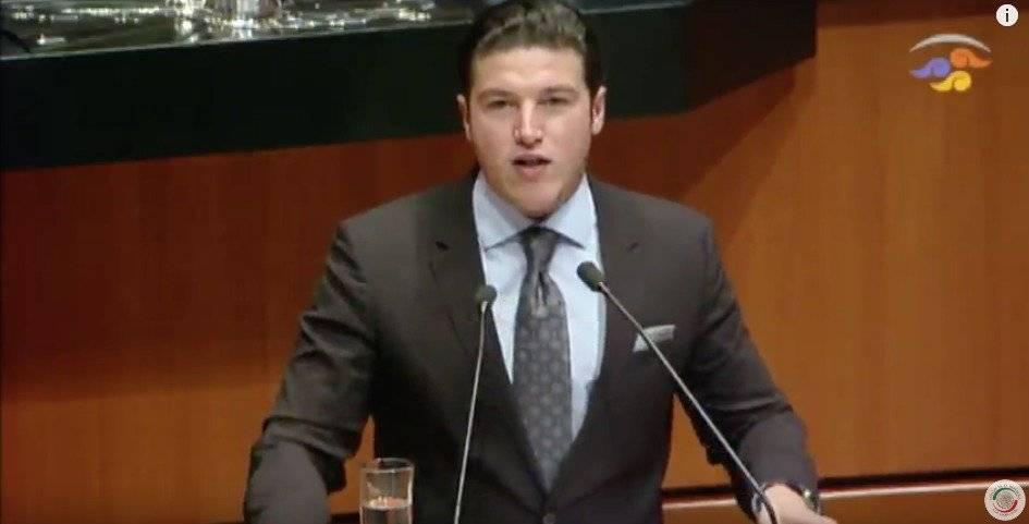 Samuel García posicionó en contra del nuevo TLCAN. Captura de pantalla de la sesión.