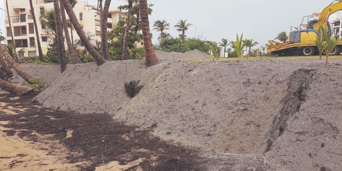 Depósito ilegal en playas para detener erosión