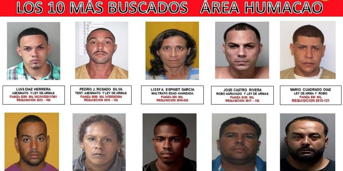 Estos son los 10 más buscados del área policiaca de Humacao