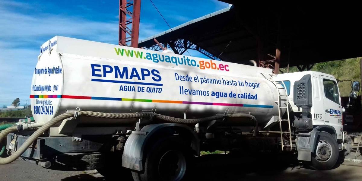 30 tanqueros abastecerán al sur de Quito durante corte de agua