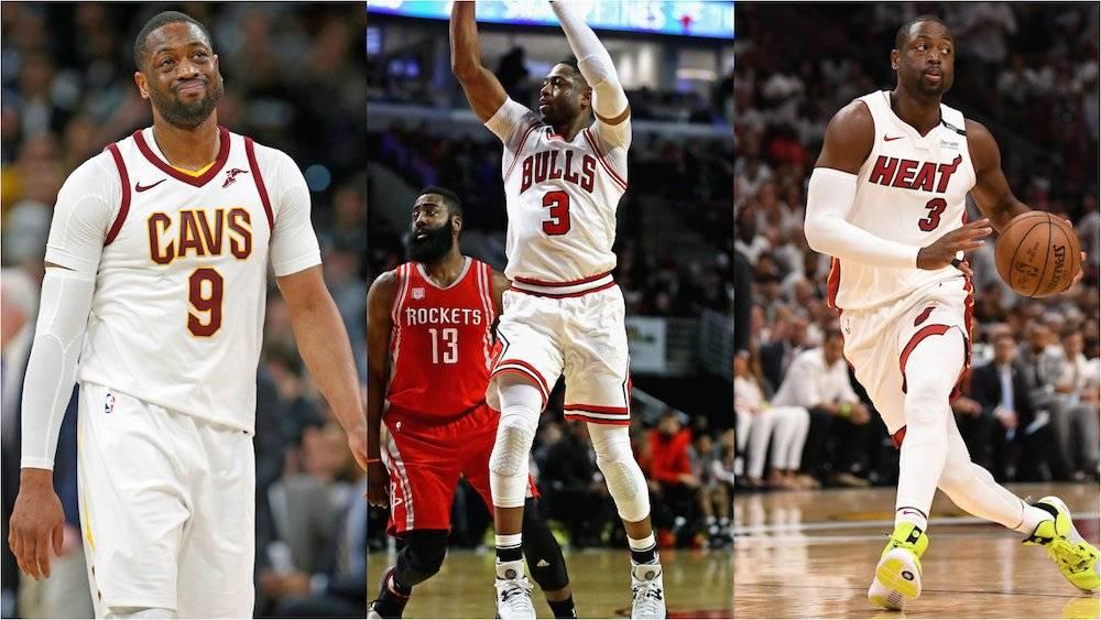 Dwyane terminará su carrera con el Heat de Miami, pero tambien vistió el uniforme de Bulls y Cavs. / Especial