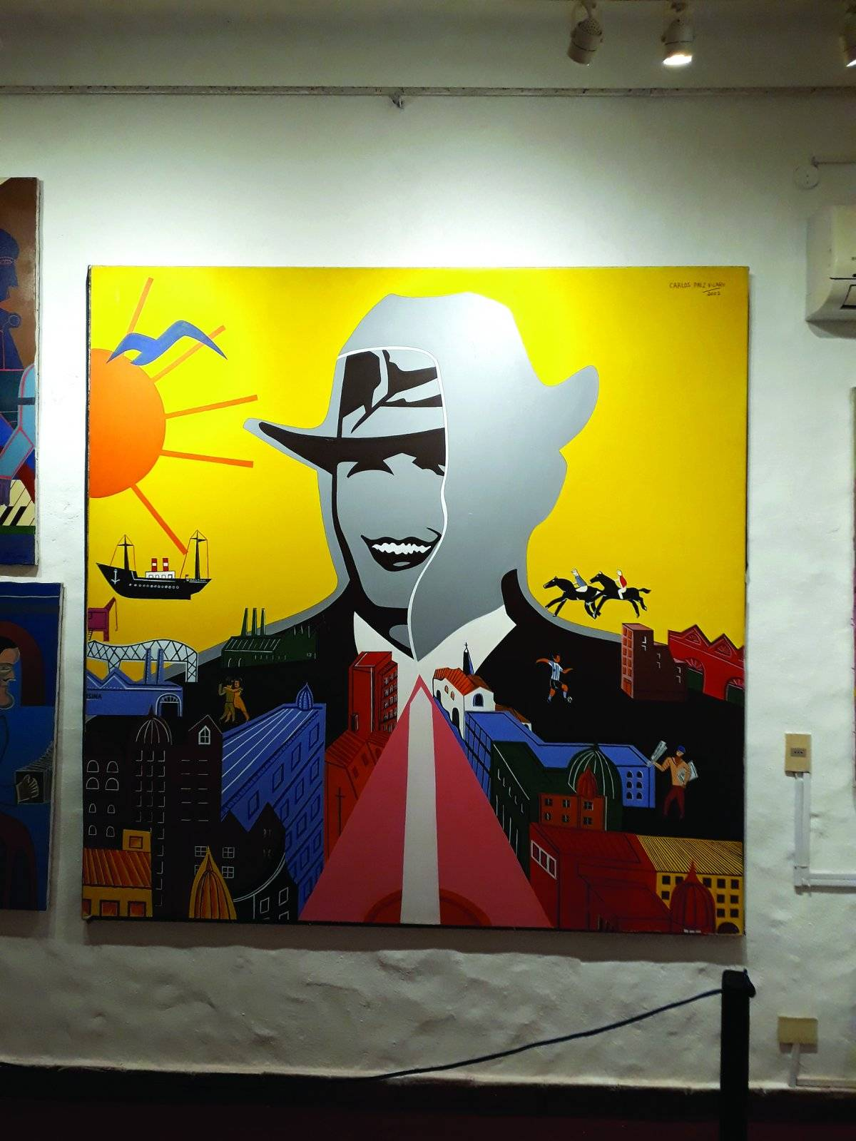 Ainda na Casapueblo dá para ver o Gardel em obra de Vilaró de 2002 | Maicon Bock/Metro