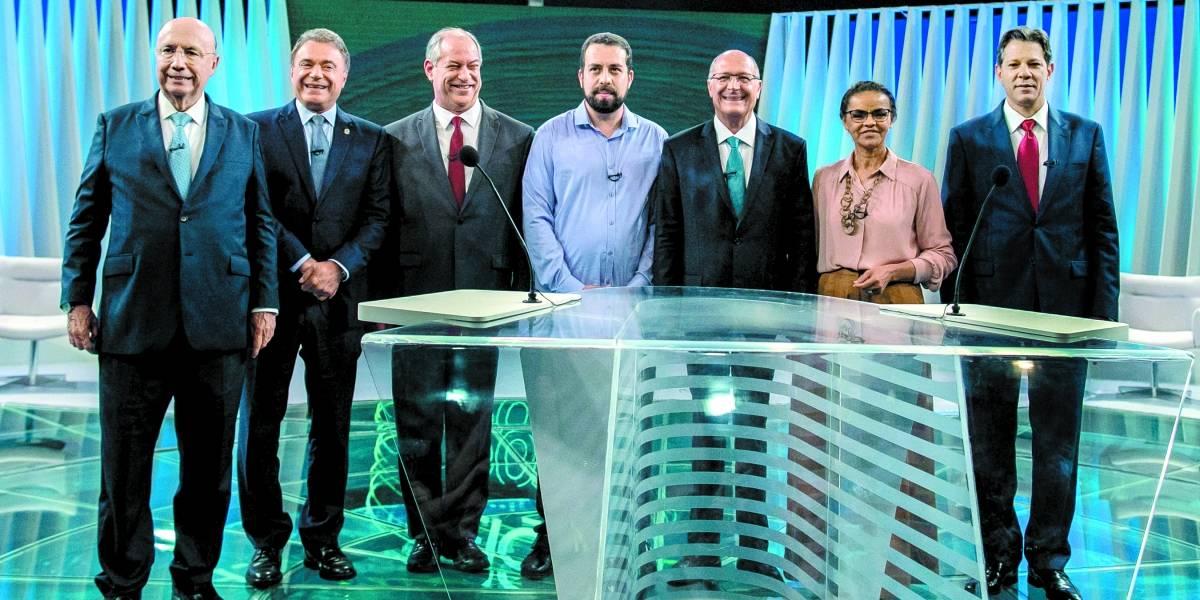 No último debate antes do primeiro turno, candidatos criticam a polarização