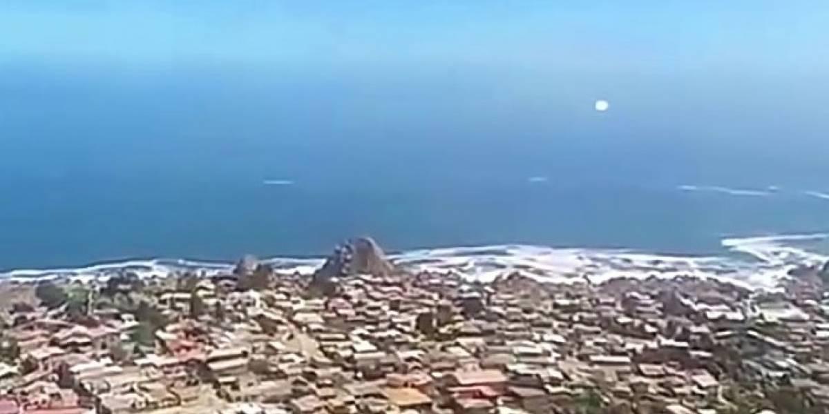 ¿Gigantesco ovni sobrevoló Coquimbo?: el impactante registro que causa revuelo en redes sociales