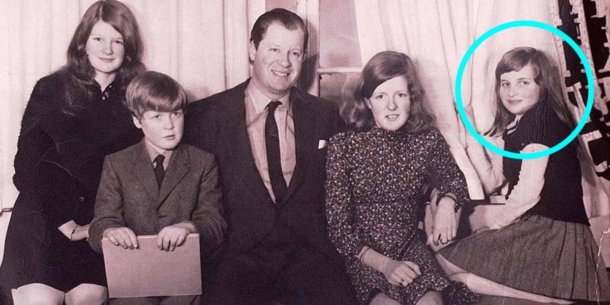 La fotografía familiar que demuestra que Lady Di fue una niña muy solitaria