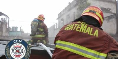 incendio en zona 3 de Mixco